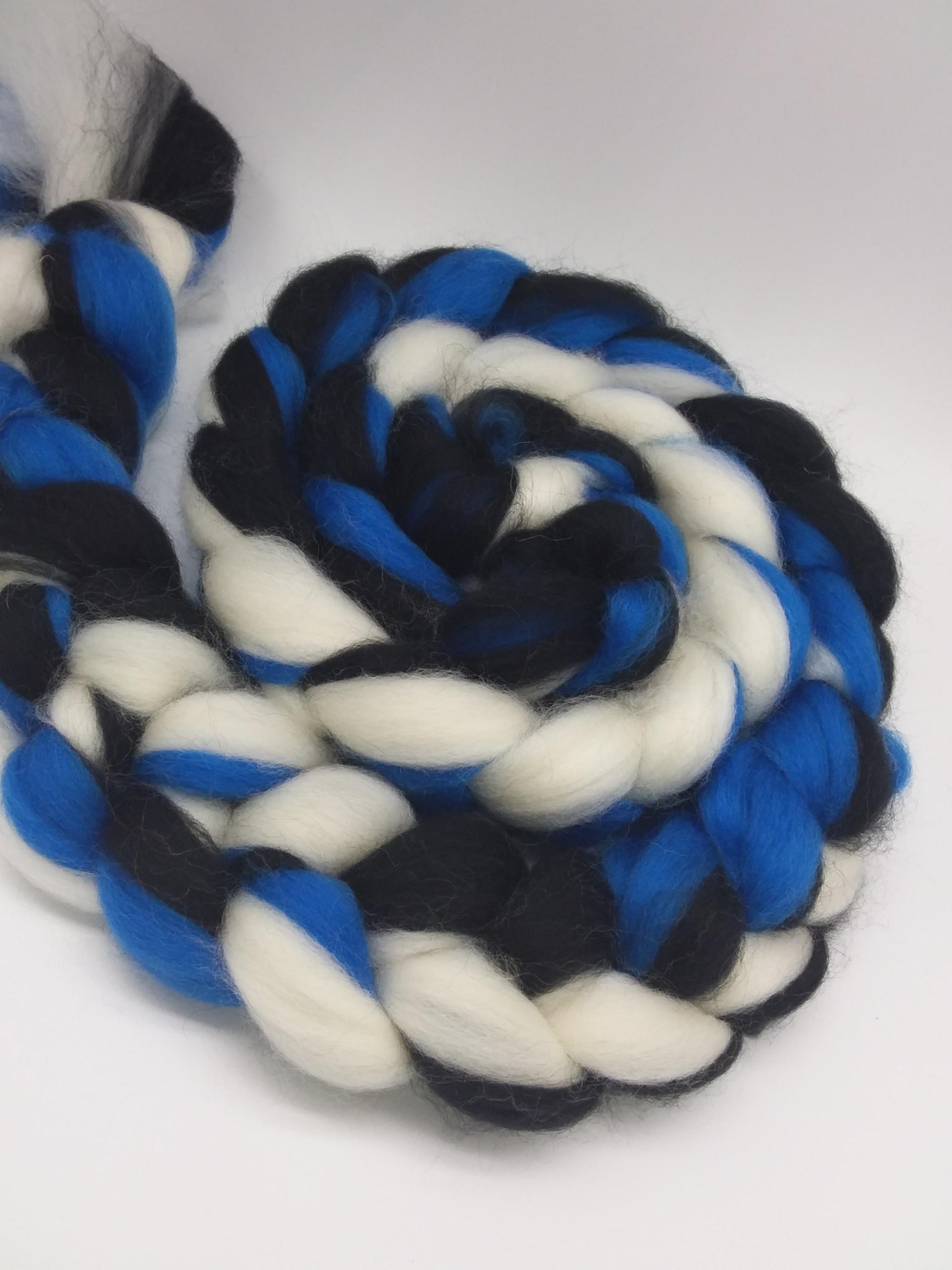 Kammzug Blue Line, Bluefaced Leiceter, weiß, bl...
