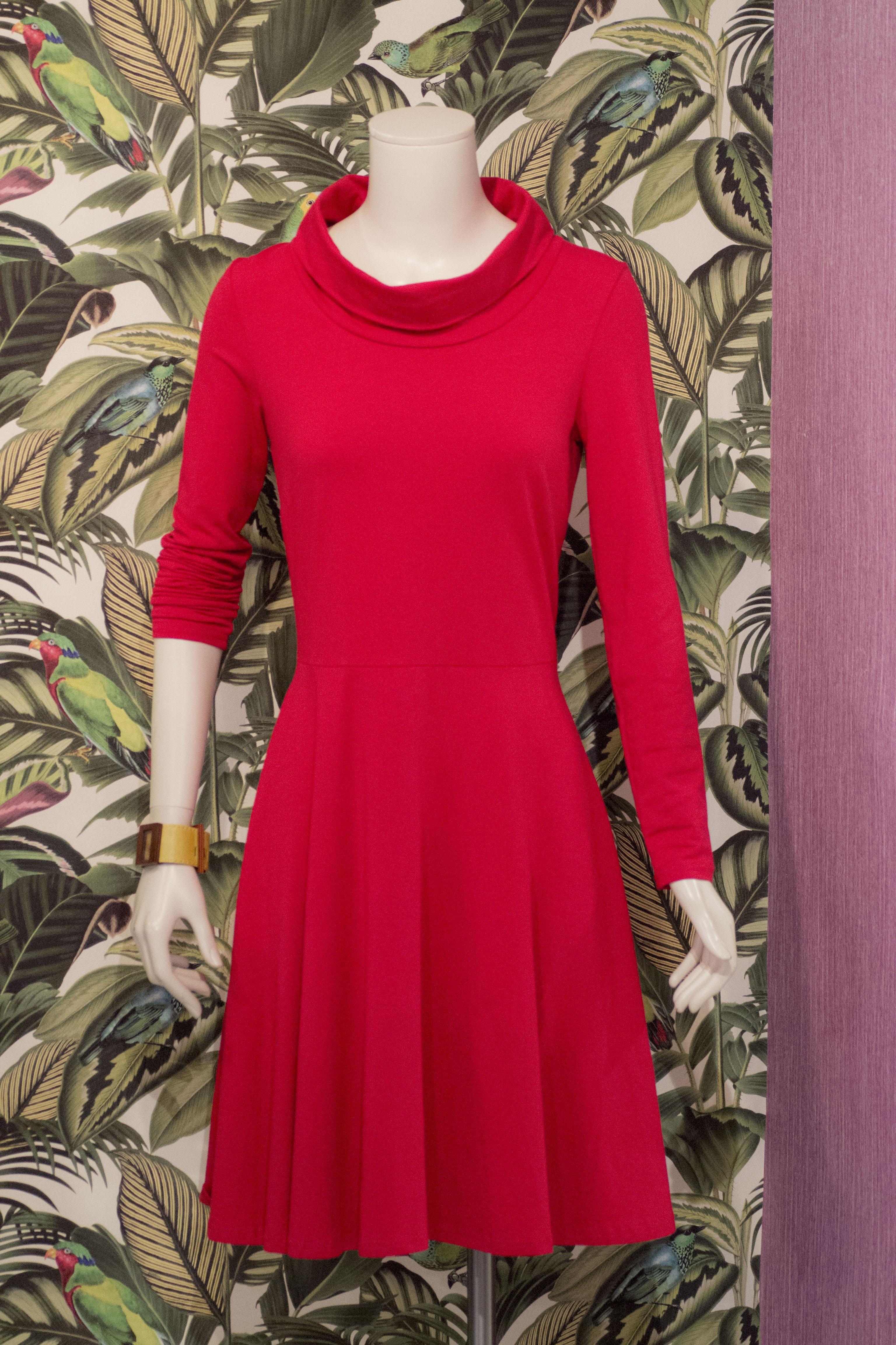 Bio Baumwolle Jersey Kleid -Rot