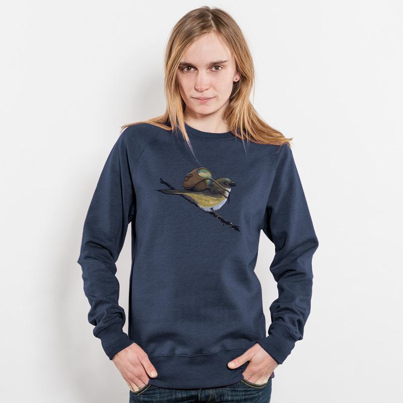 Robert Richter Save the Planet Bird Unisex Recycled Organic Sweatshirt