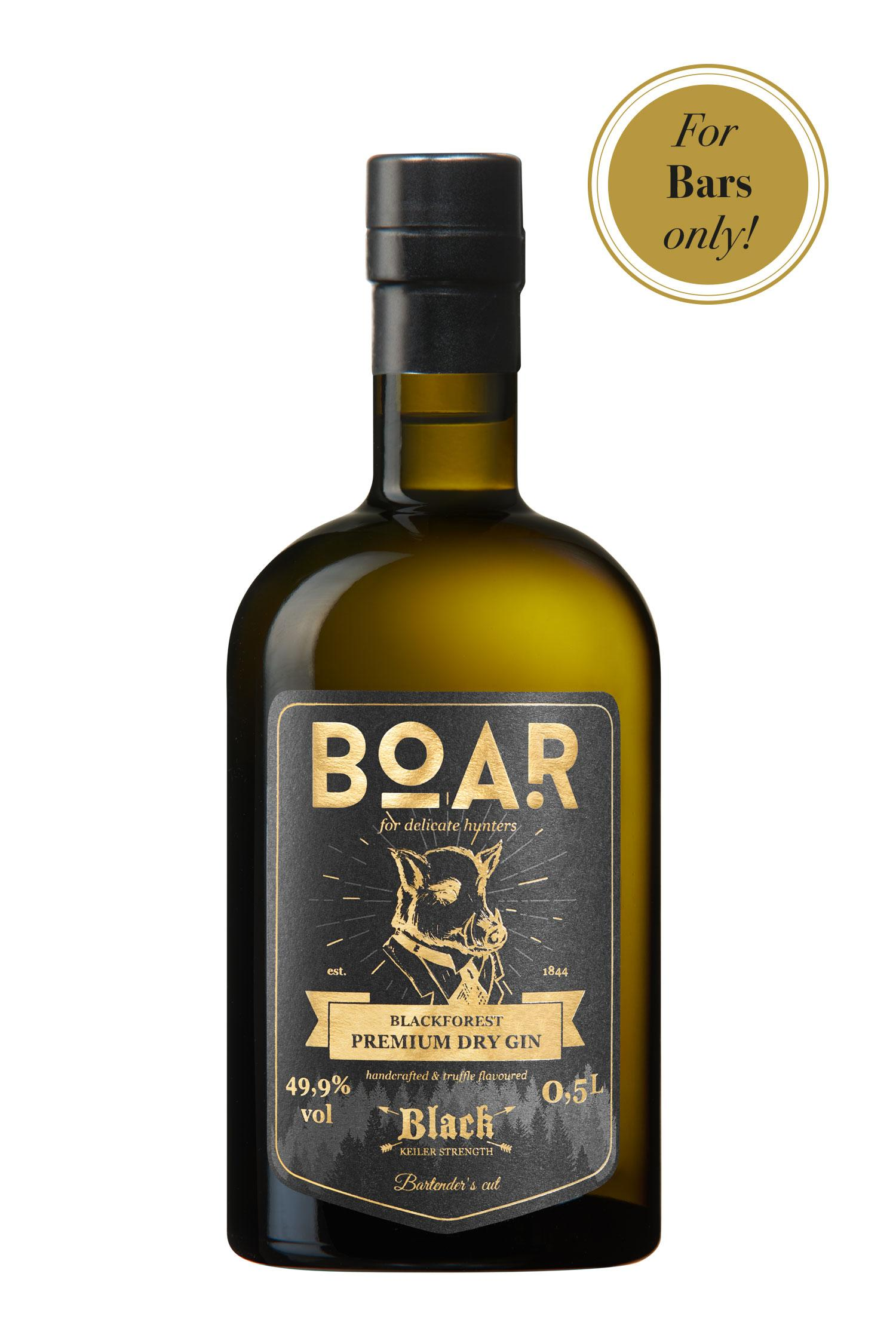 Boar Black Keiler Strength Gin, 0,5l. 49,9% Vol...