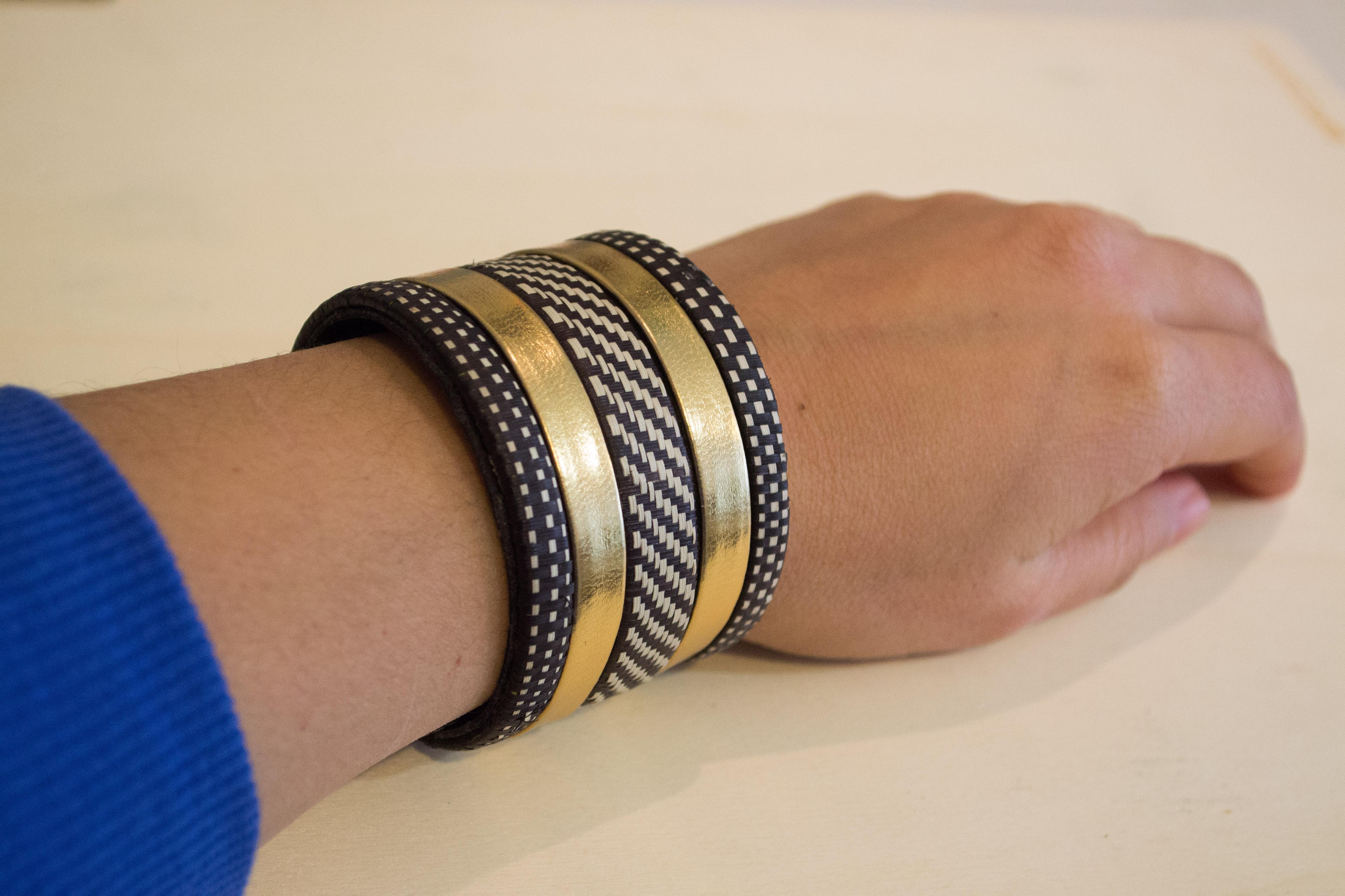 Caña Flecha Armband In Gold oder Silber