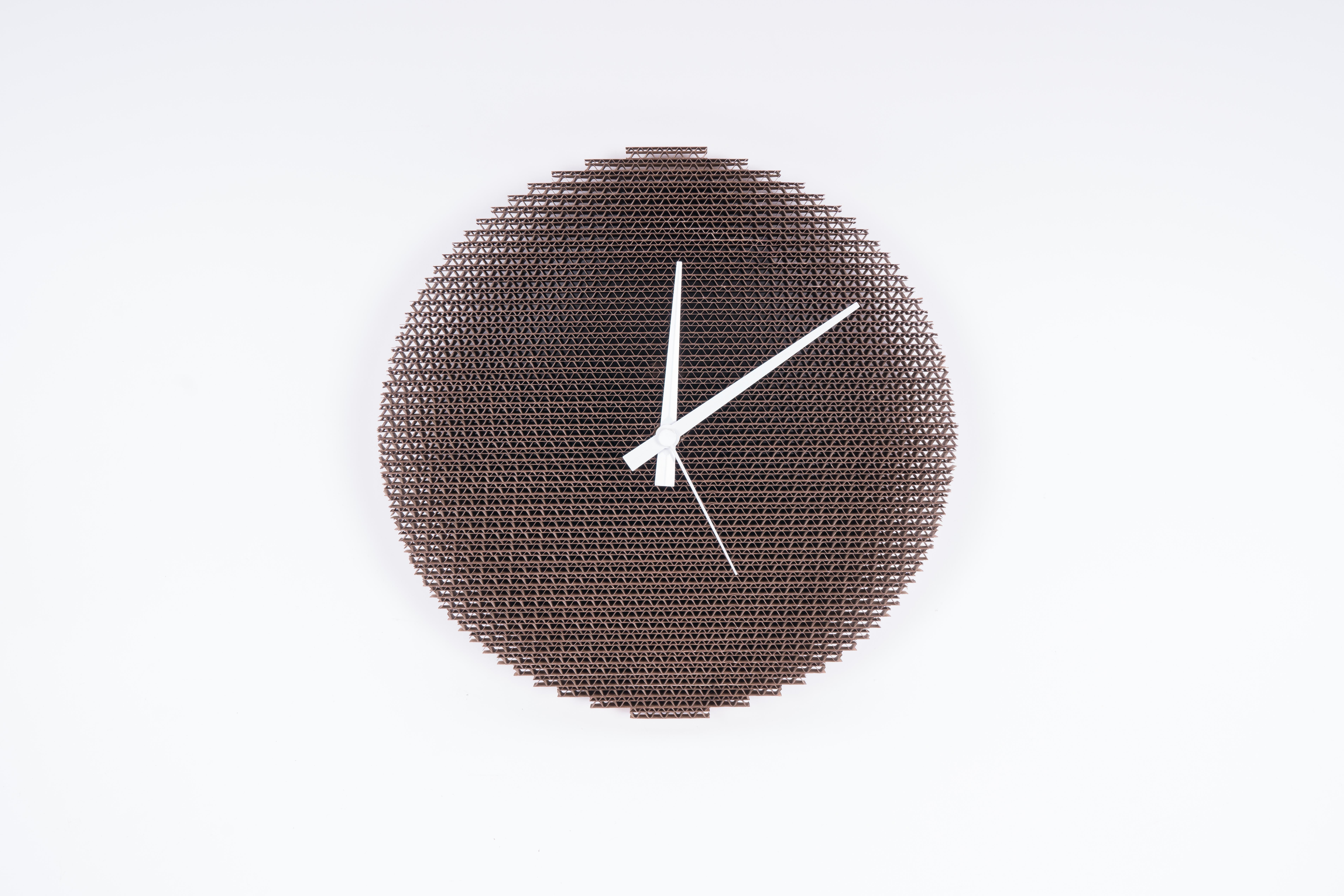 CARDCLOCK Eco Uhr 30 cm, natur
