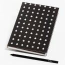 Lipa Store-Notebook black with linden leaves-31