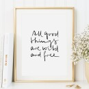 Tales by Jen-Tales by Jen Art Print: All good things are wild and free-31