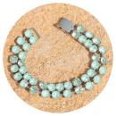 artjany-artjany double row bracelet mint green mix-31