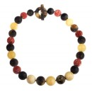 """BalticBuy-Amber and Coral necklace """"The Traveler""""-31"""