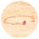 -Artjany bracelets fuchsia rose gold-3