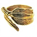 -Bronze colored spring ring unisex-30