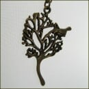 Carol and Me-Pretty brass chain with a tree pendant with bird-31