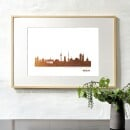 """44spaces-Kunstdruck Skyline """"Berlin"""" in Kupfer Stadt wählbar-3"""