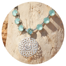 artjany-artjany necklace mandala mint green-33