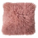 Bloomingville-pink lambskin cushion 40x40cm-31
