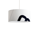 -Maritime ceiling lamp home port 45cm sail with textile cable-32