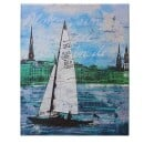 "meike kohls-Canvas Print ""Sailboat Dragon""-3"