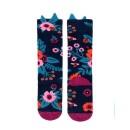 -Navy Garden Knee High Socks-31