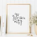 Tales by Jen-Tales by Jen Art Print: Go your own way-31