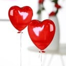 -Red glass heart balloon-31