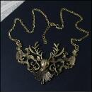 Carol and Me-Deer necklace antique gold colors-31