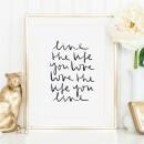 Tales by Jen-Tales by Jen Art Print: Live the life you love-31