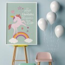 """heartcovered-Personalized Poster """"Unicorn"""" A3-3"""