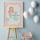 """heartcovered-Personalized Poster """"Mermaid"""" A2-3"""