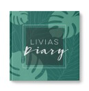 """heartcovered-Personalized diary """"Palm trees""""-3"""