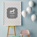 """heartcovered-Personalized Poster A3 """"Rocking Horse""""-3"""