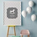 """heartcovered-Personalized Poster A3 """"Rocking Horse"""" DUPLICATE-3"""