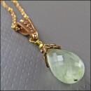 -Beautiful long prehnite cape emerald gemstone necklace-31