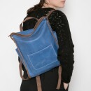 -Leather Rucksack Oslo in blue-31