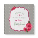 "heartcovered-Personalized Wedding Guestbook ""Nostalgia""-3"