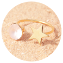 -Artjany star ring vintage rose matt gold-3