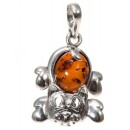 """BalticBuy-Silver and amber pendant """"Cat""""-31"""