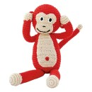 Sindibaba-Cuddly monkey Red-30