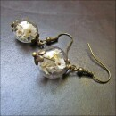 -Long earrings with real white flowers in glass-31