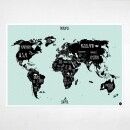 "Amy and Kurt Berlin-A1 poster ""World map"" Mint-31"