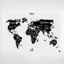"Amy and Kurt Berlin-A1 poster ""World map"" sw-31"