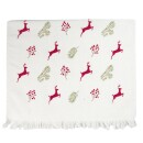 Clayre and Eef-Tea towel HIRSCHE ILEX red Christmas Christmas country style Shabby towel Clayre and Eef-3
