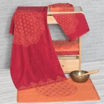 -Happy Flower of Life towel ruby red-21