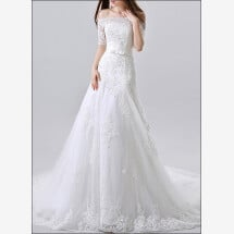 -High quality wedding dress lace with sleeves-24