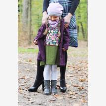 -Kids knit coat fuchsia-black mottled-21