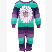 -Danefae Purple-Green Striped Onesie with a Magerite-21