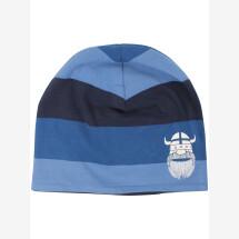 -Danefae Blue Striped Jersey Beanie-21