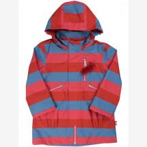 -Danefae Red Striped Kirstine Midseason Between-seasons Jacket-21