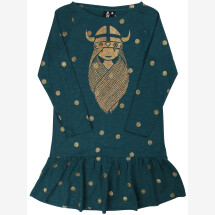-Danefae dark green cookie dress with gold dots and Freja in gold-21