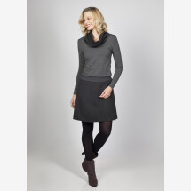 -Jersey dress Ava with collar wool viscose-21