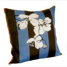 -Blue orchid silk pillow-21