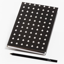 -Notebook black with linden leaves-21