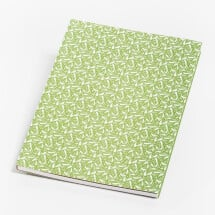 -Notebook green with linden flowers-22
