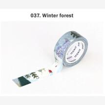 -Blue winter forest season masking tape-21